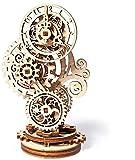 BUSUANZI Rompecabezas 3D De Reloj De Madera Juego De Construcción Mecánica De Reloj Steampunk Kits De Modelos De Bricolaje para Adultos Adolescentes Y Niños Regalo Ideal Hermosa Decoración del Hogar