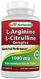 Best Naturals L-Arginine L-Citruline Complex 1000 mg 120 Tablets