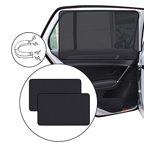 2 Stück Sonnenschutz fürs Auto Vorhang,Sonnenschutz Magnetisch für UV-Schutz,Hitzeschutz,Sonnenschutz Auto Baby,Seitenscheibe Heckscheiben Vorhang