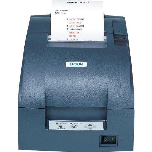 Epson C31C514667 Dot Matrix Receipt Printer TM-U220B, Ethernet, Autocutter, Power Supply Included, Dark Gray (Renewed)