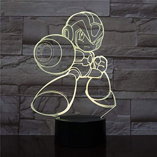 Rockman Figur Jungen Baby Spiel Megaman Nachtlicht 3D LED Tischlampe Kinder Geburtstagsgeschenk Nachtzimmer Dekoration