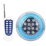 XINL Luz de Piscina, Impermeable IP68 12W RGB 12LED Luces de Pared de Piscina con Control Remoto, Luces LED subacuáticas para Acuario, Estanque, Piscina