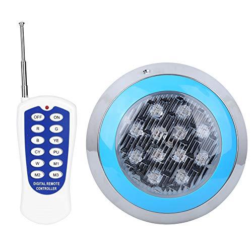 Clasken Luz LED para Piscina, Bombilla de luz para Piscina de Repuesto, luz Impermeable para Piscina de Pared para iluminación de Paisaje, iluminación de jardín, Fuente pública