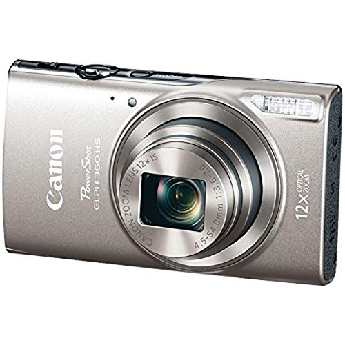 Canon PowerShot ELPH 360 Digital Camera w/ 12x Optical Zoom and Image Stabilization