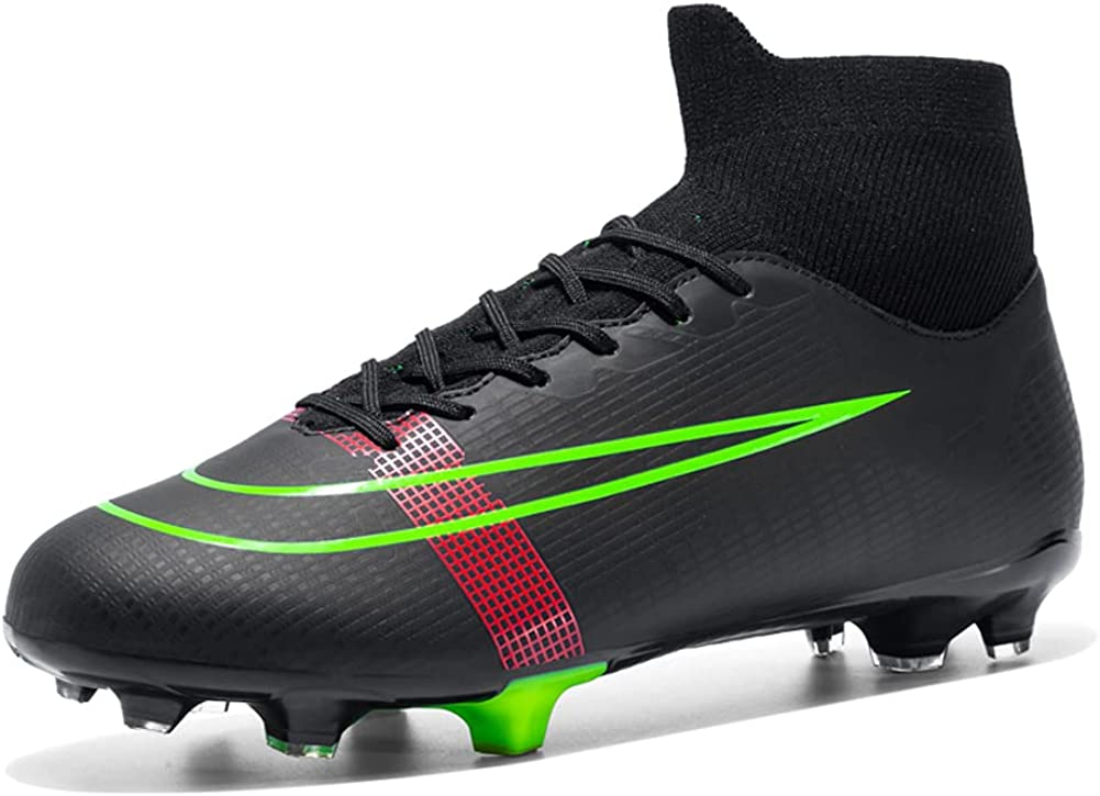 DoneXcaseo Soccer Boots Indoor AG San Francisco Mall - for Max 90% OFF High Big Cleats Boys TF