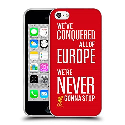 Head Case Designs Oficial Liverpool Football Club Nunca va a parar Reyes de Europa Carcasa de Gel de Silicona Compatible con Apple iPhone 5c