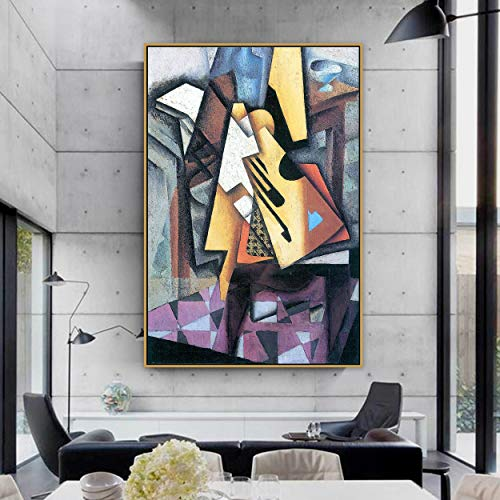 PLjVU Famoso Maestro Artista español Pintura de Guitarra póster Pintura habitación decoración de Pared Arte de Pared sobre Lienzo en Silla-Sin marco30x45cm