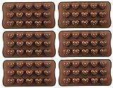 Bucanero Silikonform Herzchen 6er Set - Pralinenform Silikon Herz Herzlein - Schokolade Bonbons...