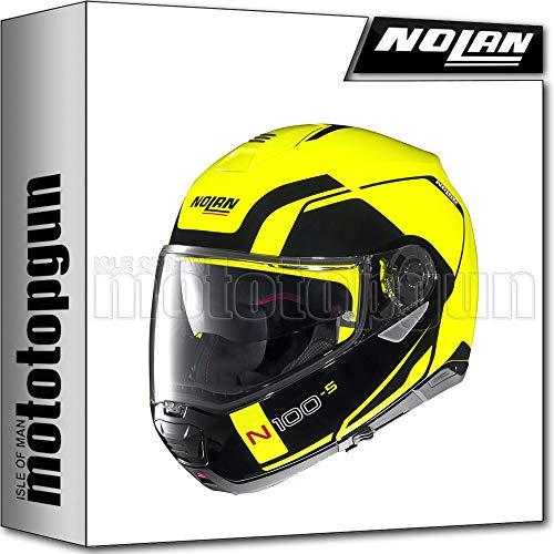 NOLAN CASCO MOTO MODULARE N100-5 CONSISTENCY LED GIALLO 026 TG. M