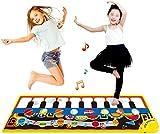XINRUIBO Materias Musicales, música Piano Keyboard Floor Mat Safe Electronic Keyboard Play Manta, colchoneta Colorida Mat Piano Music Mat para NIÑOS Piano Infantil