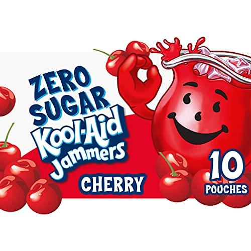 Kool-Aid Jammers Zero Sugar Cherry Flavored Drink, 10 ct - Pouches, 60.0 fl oz Box