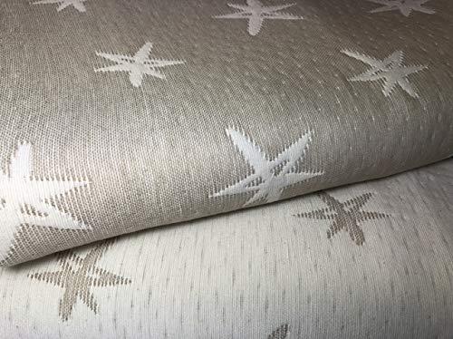 NORA HOME Colcha Cubrecama Piqué de Jacquard Mod. Estelar con Estrellas. Reversible. Todas Las Medidas (Lino, 200x260 cm (Cama 105/110))