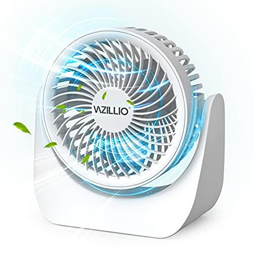 Ventilatore silenzioso, ventilatore da tavolo molto silenzioso e potente turbo con 3 livelli di velocità, ventilatore 3D, per ufficio, casa e all'aperto