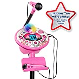 VTech Kidi Star Karaoke System 2 Mics with Mic Stand & AC Adapter, Pink