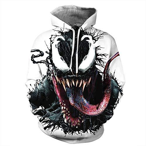 yanghuakeshangmaoyouxiangong Unisex 3D Venom Print Hoodie Hoodie Für Männer Und Frauen Sweatshirt Pullover Baseball Uniform