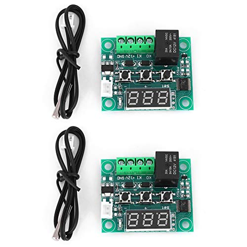 Controlador de temperatura digital W1209-2 piezas W1209 DC 12V Termostato digital Sensor impermeable Interruptor de control de temperatura -50~110 ° C