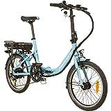 REMINGTON City Folder 20 Zoll Faltrad E-Bike Klapprad Pedelec StVZO Elektrofaltrad, Farbe:blau