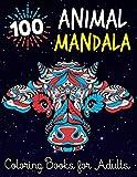 100 Animal Mandala Coloring Books for Adults: Anxiety coloring books for adults