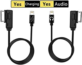 AMI MDI AUX & Charger Cable Kit, Charging Cord Music Interface Adaptor for Selected Audi VW Volkswagen Models(Audio+Charging)