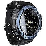 Lokmat Mk28 Relógio Inteligente 1.14 Polegadas Tela Bt4.0 Vida À Prova D 'Água Pedômetro Calorias Alarme Homens Esportes Smartwatch Para Android 6.0 / Ios 7.0 E Acima (Azul)
