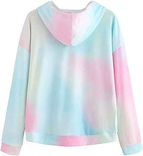 Mlide Hot Sale Sweatshirt, Women's Hoodie Printed Patchwork Dye Sweatshirt Long Sleeve Pullover Tops Blouse