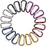 Gimars 18 pcs 6 cm mini Karabiner Schlüsselanhänger, Karabinerhaken Alu klein Schlüssel Karabiner für Camping, Angeln, Wandern oder Reisen -