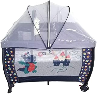 BABY LOVE Baby Bed with Mosquito Net, Multi Color - 27-930C