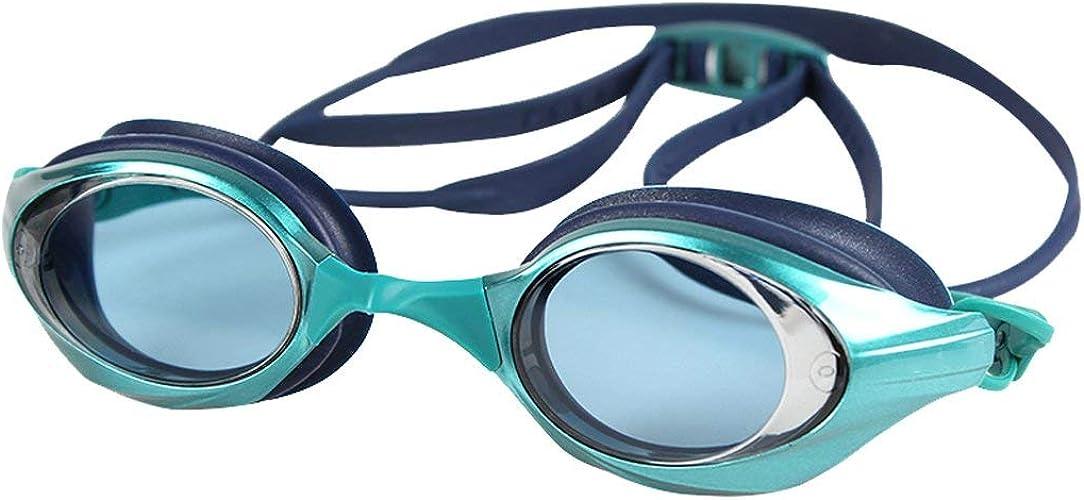 ZTMN Lunettes de Natation Lunettes de Prougeection Anti-buée Professional HD Lunettes de compétition d'athlétisme pour Adulte (Couleur  Vert)