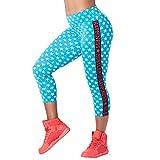 Zumba Dance Capri Leggings Estampados Fitness Entrenamiento Mallas de Deporte de Mujer, Bangin' Blue, L