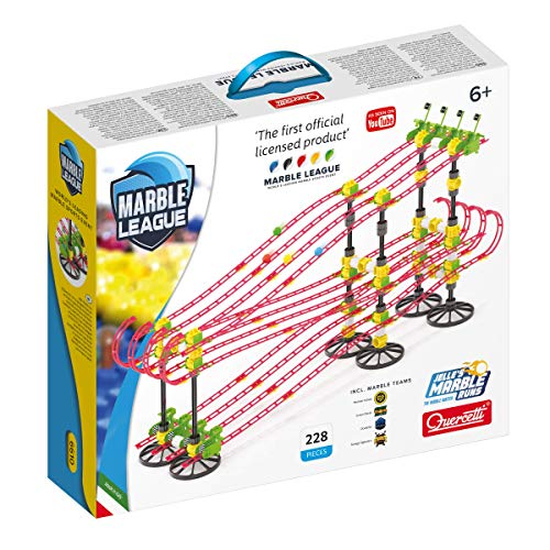 Quercetti - Marble League - The Official Jelle's Marble Runs Marble Racing Set, Includes 228 Total Pieces and 12 Meters of Track, Features 4 Teams, for Ages 6 Years +