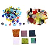 Bonarty Fusible de Vidrio de Confeti de Horno de Color Mixto de 3 Piezas,...