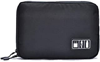 New Electronic Accessories Cable USB Drive Organizer Bag Portable Travel Insert Case (Black)
