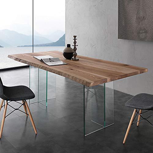 M-029 Esstisch aus Massivholz und Glas Ilona 2