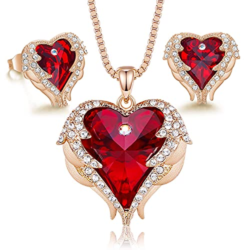 Love heart necklaces and earrings