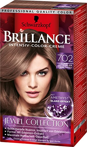 Brillance Intensiv-Color-Creme 702 Kühler Amethyst Jewel Collection, 3er Pack (3 x 143 ml)