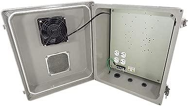 Altelix 14x12x8 Fiberglass Vented Weatherproof NEMA Enclosure with Cooling Fan and 120 VAC Power Outlet