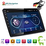 YUGUIYUN WiFi MP5 Player 2 DIN 10 Pulgadas para Android 8.1 Navegación GPS RAM1G ROM16G Radio Universal para Automóvil Auto-Video Mirrorlink Smart Radio con Cámara 4LED