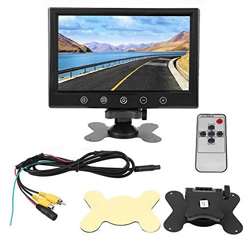 Monitor de marcha atrás KIMISS para automóvil, pantalla LCD TFT HD de 9 pulgadas Monitor de visión trasera con pantalla táctil y asistente de estacionamiento Control remoto