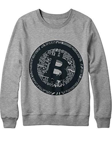 HYPSHRT Herren Sweatshirt Cryptocurrency Bitcoin PCB H000023 Grau S