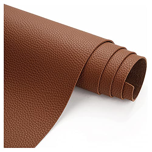 wangk Polipiel para tapizar Polipiel para Tapizar Tapicería Material De Artesanía Tela por Metros de Polipiel para reparación de sofás Costura Elaboración Proyectos de Bricolaje-Marrón 1.38x7m