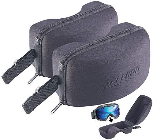 Speeron Hardcase-Brillen-Etui: 2er-Set Brillen-Etuis für Ski- und Snowboard-Brille, 20x11,5x10,5 cm (Brillenetui-Hartschale)