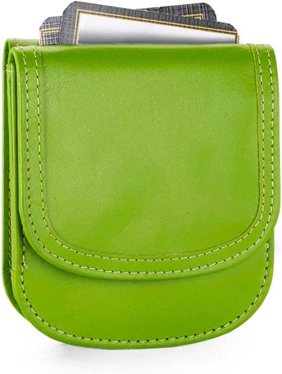 Taxi Wallet - Smooth Leather, Yummy Avocado – A Simple, Compact, Front Pocket, Folding Wallet, that holds Cards, Coins, Bills, ID – for Men & Women