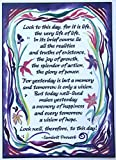 Look to this day 5x7 Sanskrit Proverb poster - Heartful Art by Raphaella Vaisseau