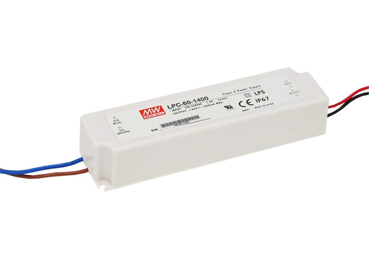 PowerNex Mean Time sale Max 68% OFF Well LPC-60-1400 42V Single 1400mA 58.8W Output