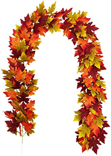 UWY Storage Bag Fall Wreath for Front Door Fall Maple Leaf Rattan Thanksgiving ChDecorative Garland Home Decoration Supplies