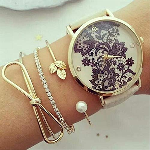 Ogquaton 3 Arm Kettenarmband Set Goldschmuck ohne Kette Damenuhr Best Choice