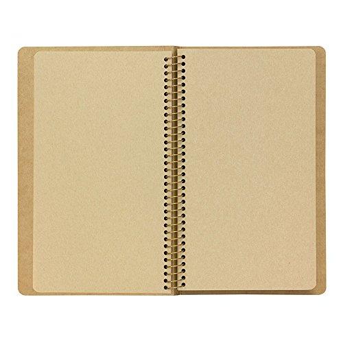 1 X Midori-spiral ring notebook camel blank notebook Photo #8