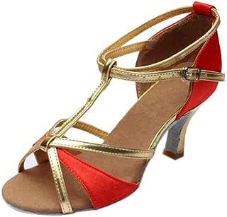 comprar comparacion Luckycat Mujeres Zapatos Latinos de Baile Zapatillas de Salón Salsa Performance Calzado de Danza Zapatos de Baile Latino d...