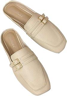 [lsjdln] ミュール スクエアトゥ レディース靴 あるきやすい 日常 コンフォートシューズ 履きやすい カジュアルシューズ やわらかい 旅行 ぺたんこシューズ 軽量 クラシカル ペタンコソール パンプス かかとのない