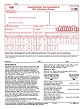 ONE - IRS Approved 1096 Laser Transmittal/Summary Red Form (2013)